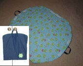 Neat 'n Tidy Baby Playmat Bag - Froggy... NO DRAWSTRING CONCERNS