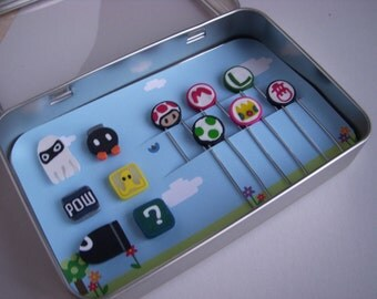 Super Mario Kart magnets and paperclips