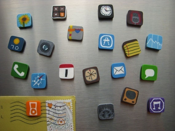 Set of iPhone magnets