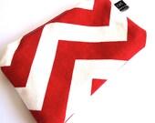 coin purse - chevron - red