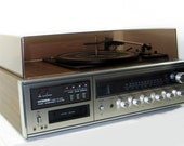 Compact Hi Fi System Fisher MC-4000 w/ Turntable and 8-Track