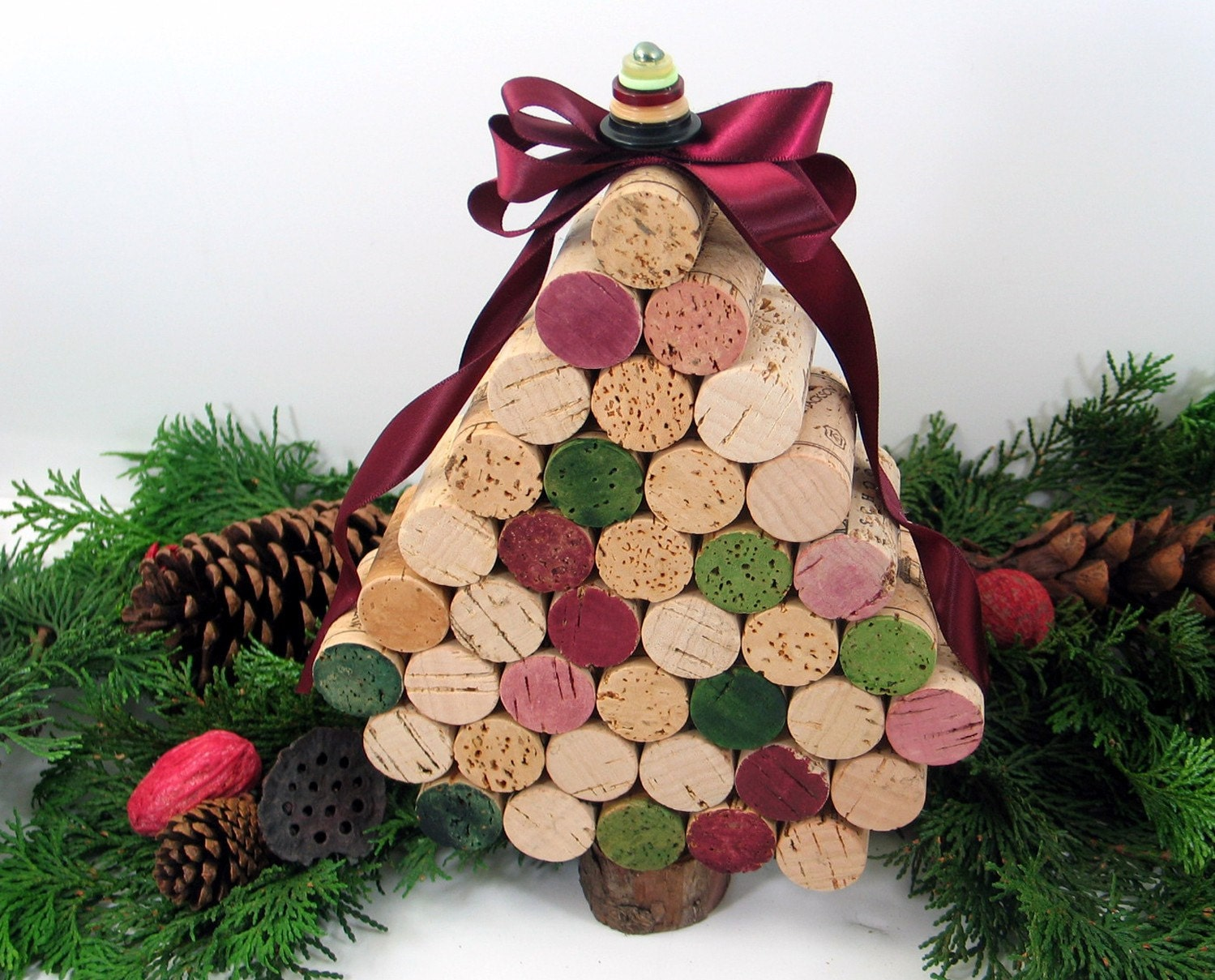 Medium Wine Cork Christmas Tree by GoldenVineDesigns on Etsy