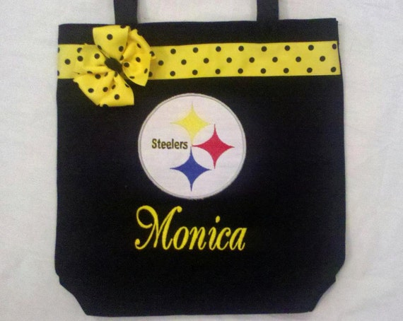 Personalized Tote Bag, Personalized Tote, Steelers Tote Bag, Steelers Tote, Steelers Gift, Personalized Steelers, Football bag