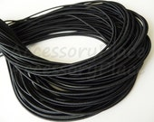 5Yards 2mm Elastic in Black..For Stationary..Hair Accessories, Jewelry, Stationary