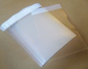 "Set of  100pcs Square Clear Self Sealing Cello Poly Bag Envelope 4"" X 4""(100mm X 100mm) and 1 5/8(flap)"