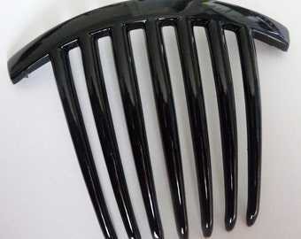 5pc Black Plastic Hair Stick/Comb with 7 Teeth in Black