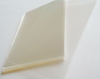 "Set of  100pcs Clear Cello Poly Bag Envelope 80mm X 160mm(3 3/16"" X 6 1/4"")..This is not resealable self sealing bags."