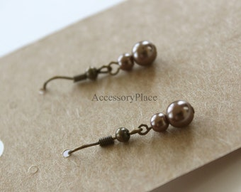 200 pcs of Blank Earrings Card in Brown Kraft Paper for Accessories Jewelry