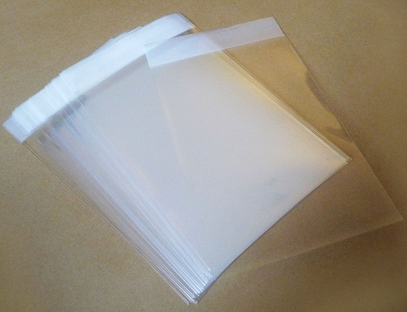 """Set of  200pcs Square Clear Self Sealing Cello Poly Bag Envelope 4"""" X 4""""(100mm X 100mm) and 1 5/8(flap)"""