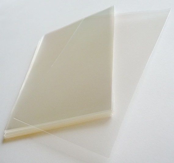 """Set of  50pcs Clear Cello Poly Bag Envelope (OPP) 100mm X 150mm(4""""  X  6"""")..This is not resealable self sealing bags."""