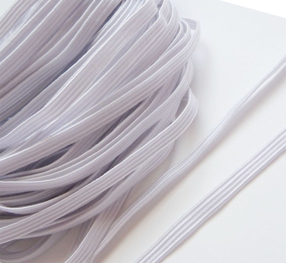 """10Yards 4mm..5/32""""..Elastic in White..For Stationary, Accessories, Jewelry, Stationary"""