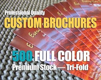 Brochures - CUSTOM FULL COLOR Quantity of 500