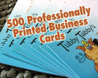 Business Cards - CUSTOM FULL COLOR Quantity of 500