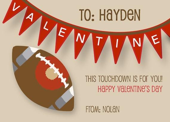 like this item - Football Valentine Cards