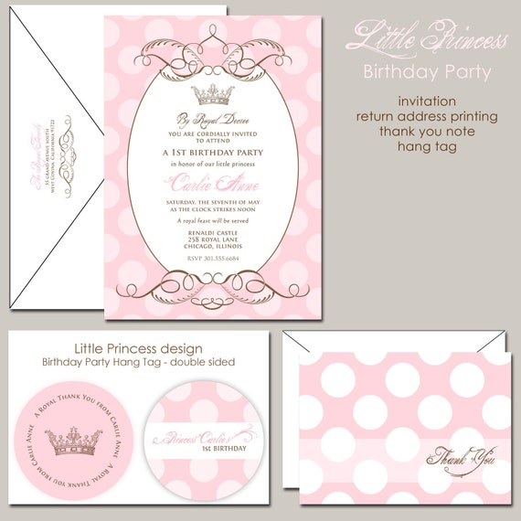 pink princess birthday invitation royal princess royal, Birthday invitations