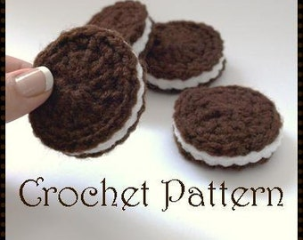Oreo Cookie Amigurumi Crochet Pattern, Automatic Download