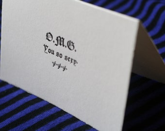 O.M.G. You So Sexy - Handmade Card