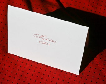 My Chick Bad - Valentine's Day Card Red