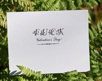 F%CK Valentine's Day - Handmade Letterpress Card