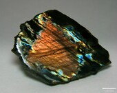 Beautiful Copper Labradorite var. Spectrolite Slice