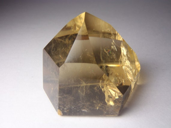 Golden Citrine Point - Natural Unheated Colour