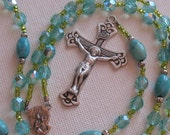 CLOSEOUT SALE Sale Rosary beads Sterling Silver One of a Kind gift for Communium or Confirmation