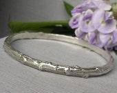 Tree branch bracelet twig jewelry sterling silver