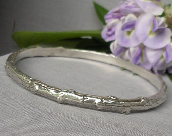 Tree branch bracelet twig jewelry sterling silver