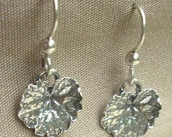 ivy leaf earrings sterling silver leaf jewelry