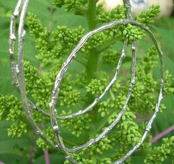 woodland bangle bracelet set twig bangles extra small to large size bangle bracelets sterling silver