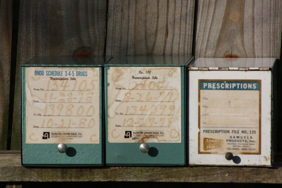 Vintage Pharmacy Boxes
