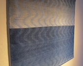 Peace with Shades of Blue and Brown Handwoven Panel
