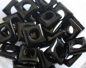 Polished Black Onyx Square Frames - 4 Destash Stones