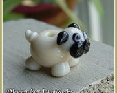 Pug Puppy Dog Lampwork Bead