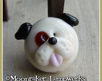 Spotted Puppy Focal Lampwork Bead