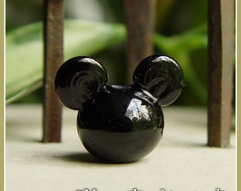 Mouse Ears Lampwork Bead