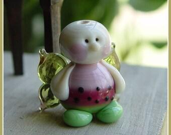 Watermelon Fairy Summer Lampwork Bead