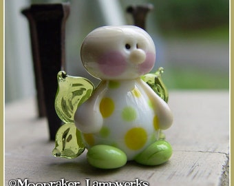 Spring Fairy // handmade lampwork bead // glass fairy bead // daffodil // gifts for her // angel bead // glass pendant //craft supplies