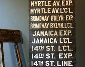 Vintage 1920s NYC Subway Sign
