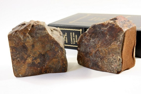 Vintage Granite Bookends