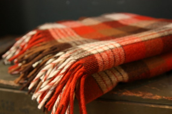 Vintage Pendleton Plaid Throw Blanket