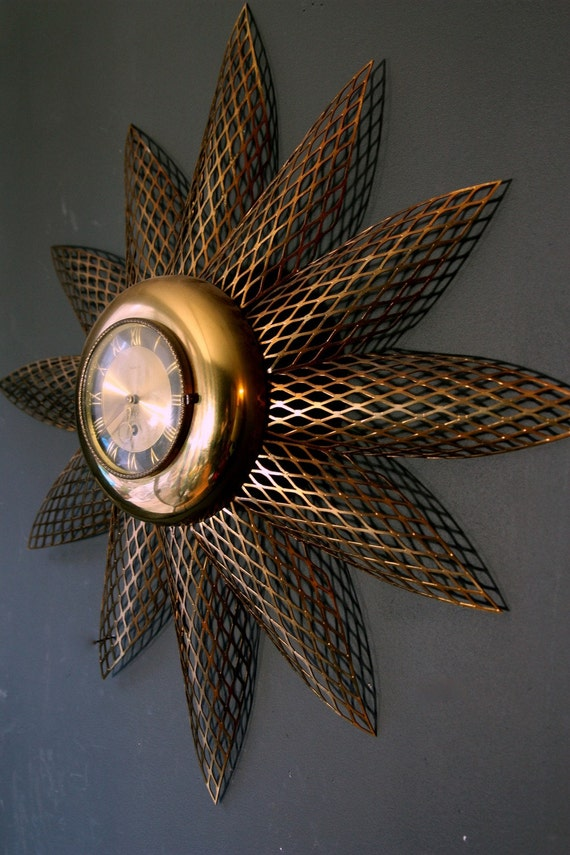 Vintage Starburst Clock - 8 Day Jeweled