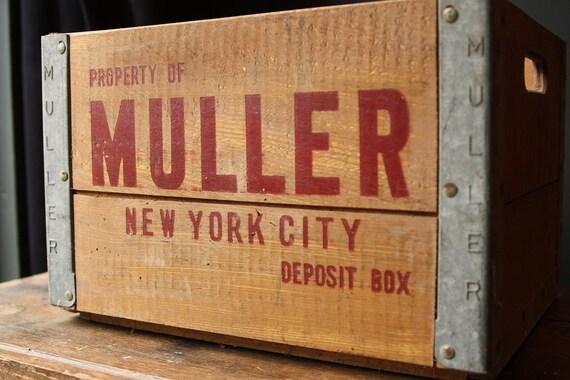 Vintage Muller New York City Milk Crate