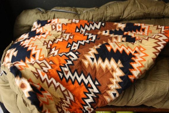Sleeping Bag with Southwestern Lining