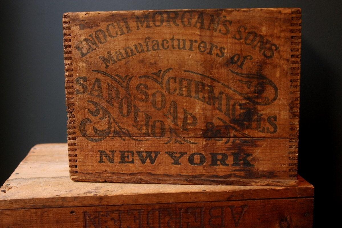 Antique Soap Box Enoch Morgan Sons Sapolio