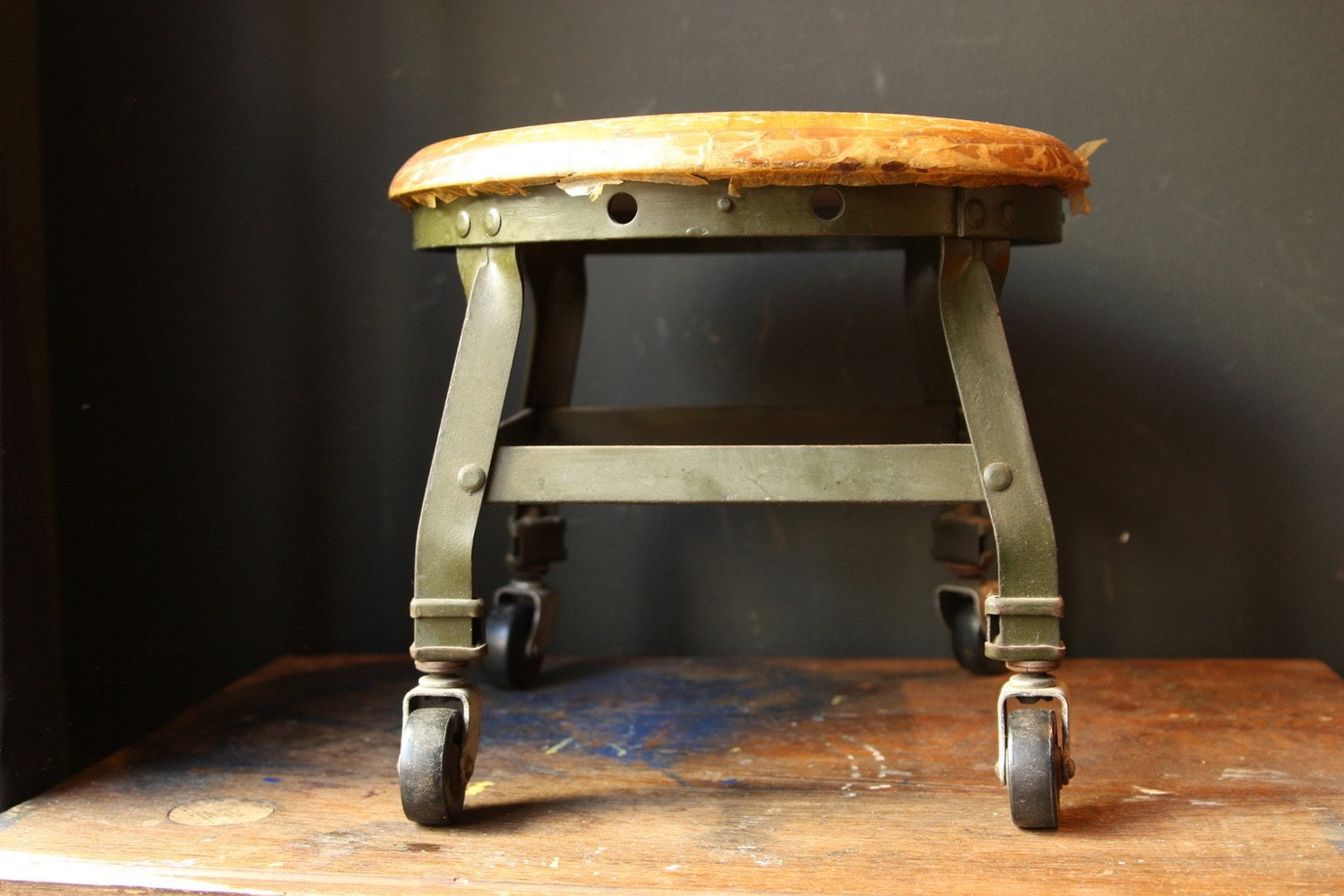 Industrial Low Rolling Stool