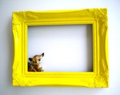 Yellow Happiness Ornate Frame