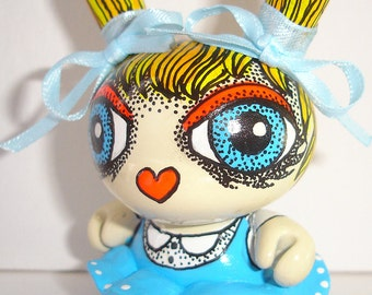 Made to Order Alice in Wonderland Custom Dunny OOAK Kidrobot Urban Vinyl Art Doll