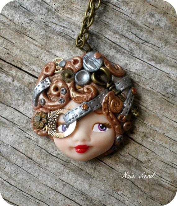 Lady steampunk necklace