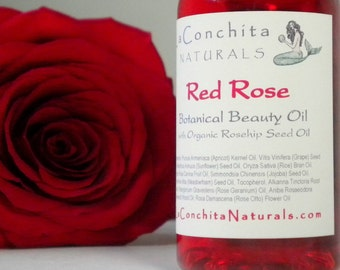 Red Rose Moisturizing Body Oil with Organic Rosehip Seed Oil  and Pure Essential Oils - 1 oz bottle on Sale